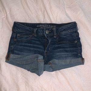 AEO super stretch shortie shorts sz 6